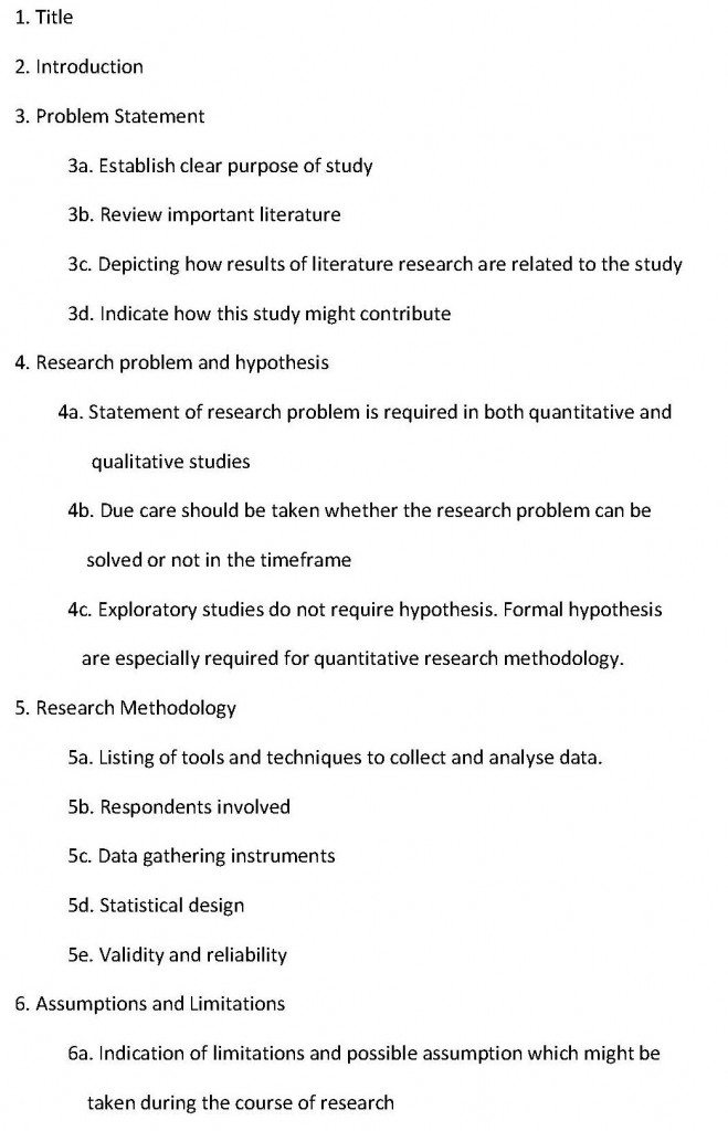 Research proposal phd