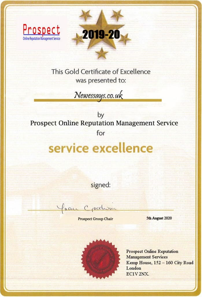 Newessays.co.uk Reviews. Service Excellence Certificate